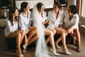 bridal party on the wedding day